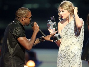 Kanye at the 2009 VMAs